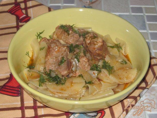 фото рецепта: Свинина тушеная с имбирем и паприкой