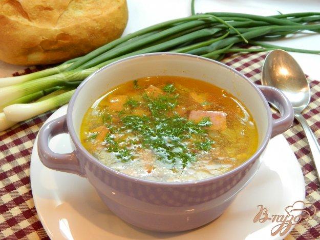фото рецепта: Суп с копченой колбасой
