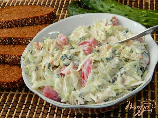фото рецепта: Овощной салат с капустой
