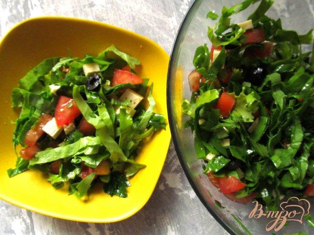 фото рецепта: Овощной салат с маслинами и брынзой