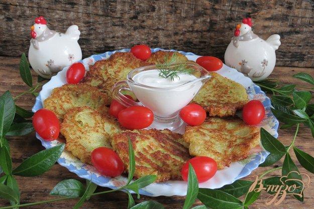 фото рецепта: Оладьи из картофеля и кабачка