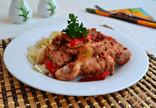 фото рецепта: Свинина в томатно-соевом маринаде жареная