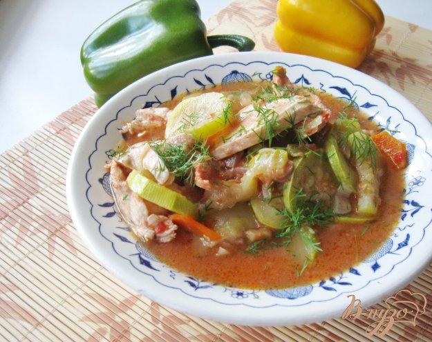 фото рецепта: Овощное рагу с куриным филе