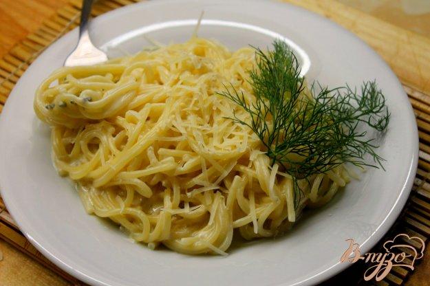 фото рецепта: Спагетти на молоке с сыром