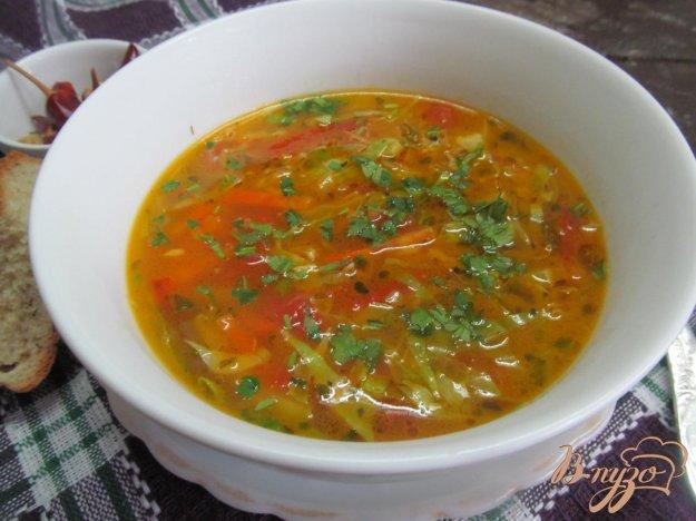фото рецепта: Овощной суп с яичной лапшой