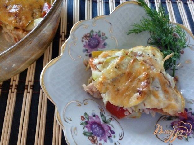 фото рецепта: «Лазанья» из кабачков и курицы