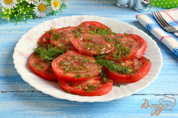 фото рецепта: Маринованные помидоры за 30 минут