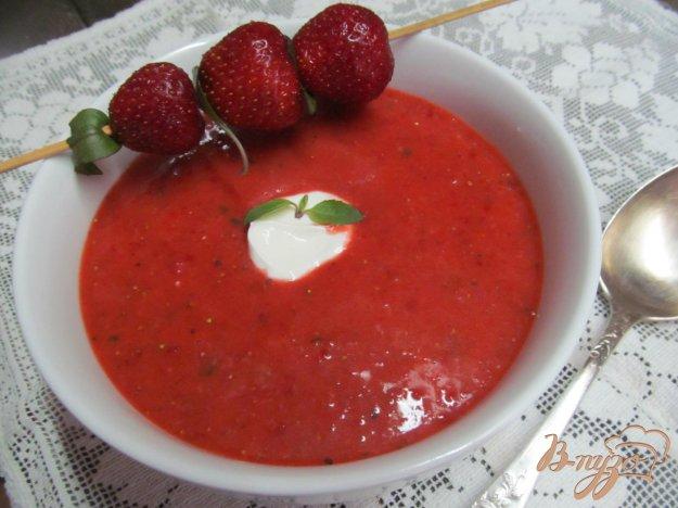 фото рецепта: Гаспачо из клубники и овощей