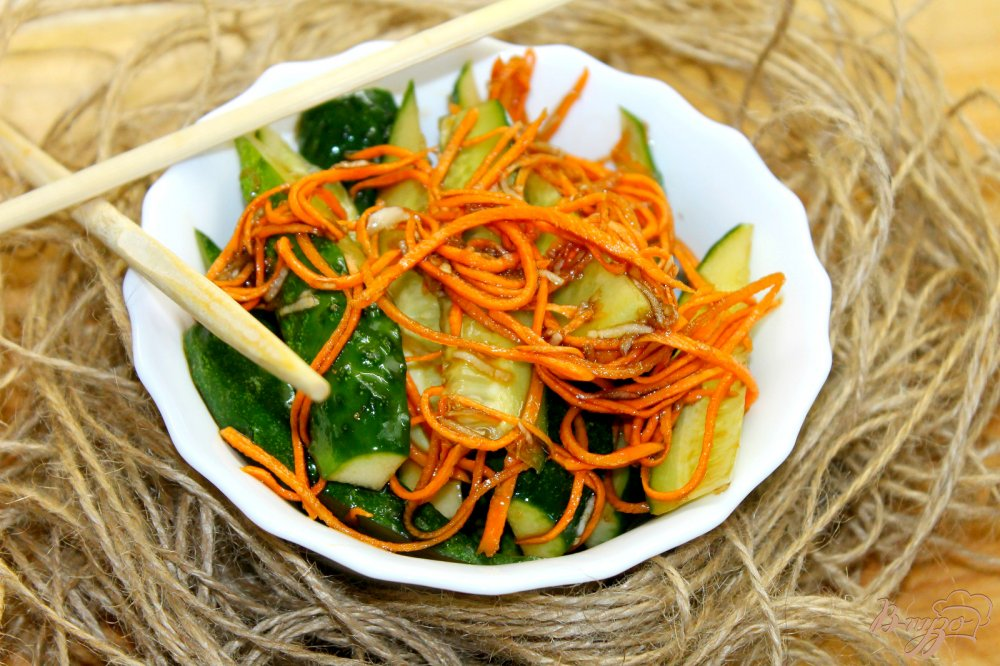 Рецепты огурцов по-корейски с морковью