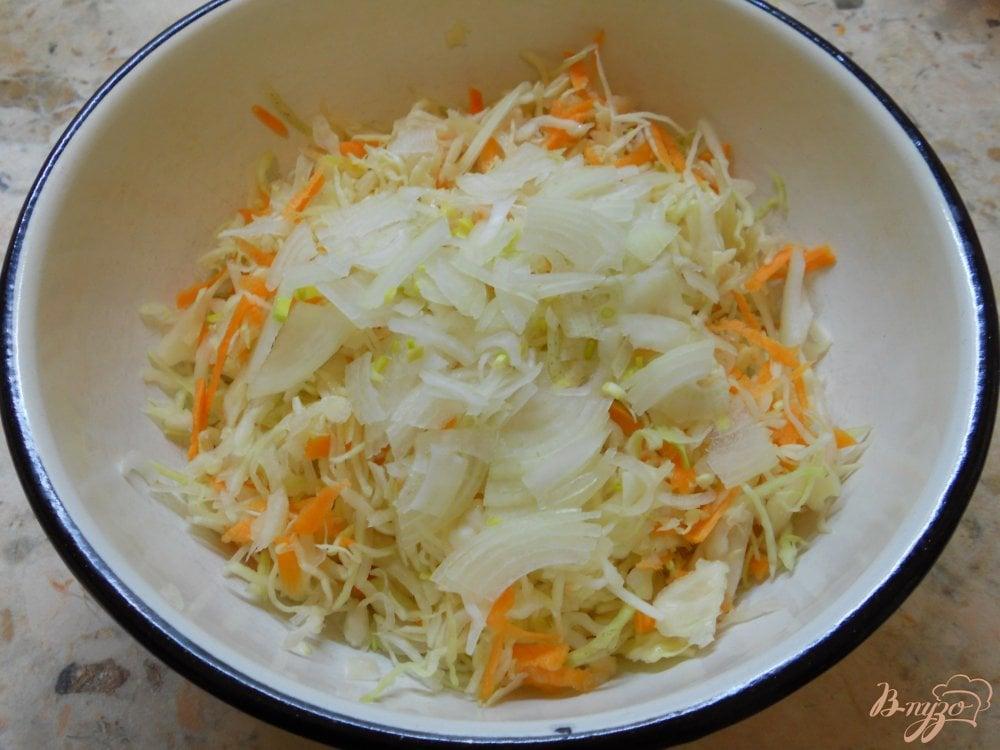 салат морковь и капуста с уксусом