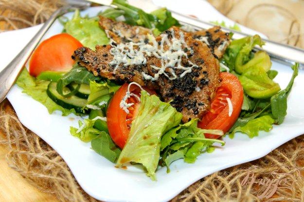 Салат цезарь со свининой рецепт с