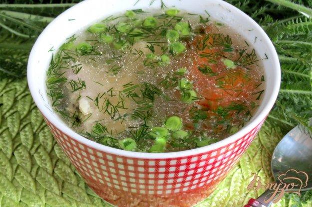 фото рецепта: Лёгкий летний суп с зелёным горошком