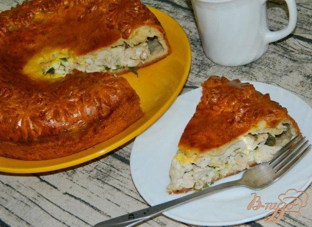 фото рецепта: Пирог с курицей на творожном тесте