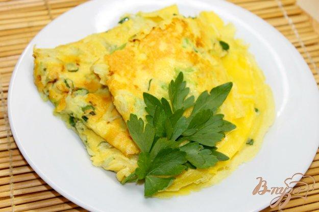 фото рецепта: Блины с кабачками и зеленым луком