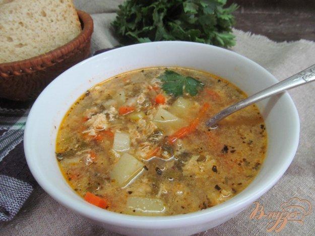 фото рецепта: Суп со щавелем на рыбном бульоне