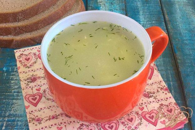 фото рецепта: Суп со шпинатной лапшой и яйцом