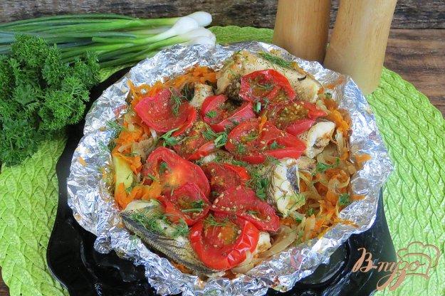 фото рецепта: Нототения запеченная на овощной подушке