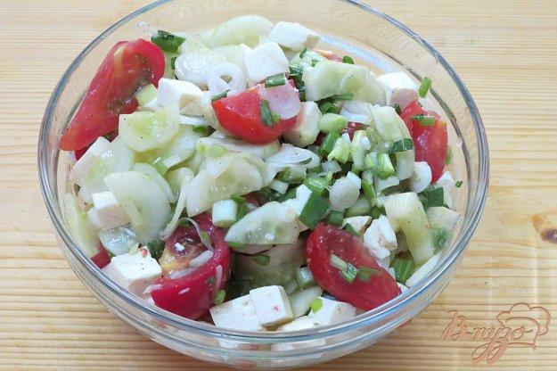 фото рецепта: Овощной салат с брынзой