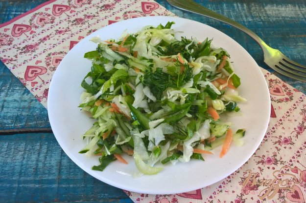 фото рецепта: Салат Зеленая щетка