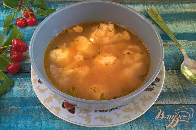 фото рецепта: Суп с картофельными клецками и цветной капустой