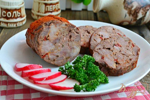 фото рецепта: Мясной рулет с печенью