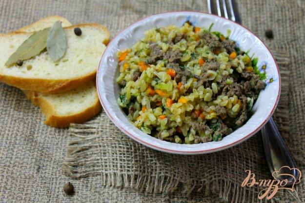 фото рецепта: Булгур с овощами и мясным фаршем
