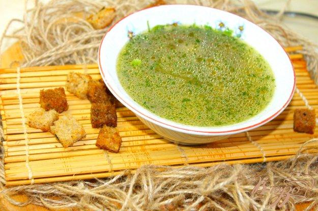 фото рецепта: Суп с молодым горошком и фрикадельками