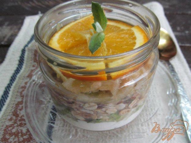 фото рецепта: Завтрак в банке с кабачком и апельсином