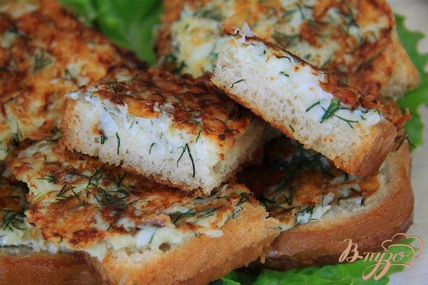 фото рецепта: Луковые гренки с сыром