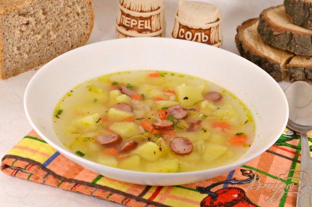 фото рецепта: Суп с рисом и егерскими колбасками