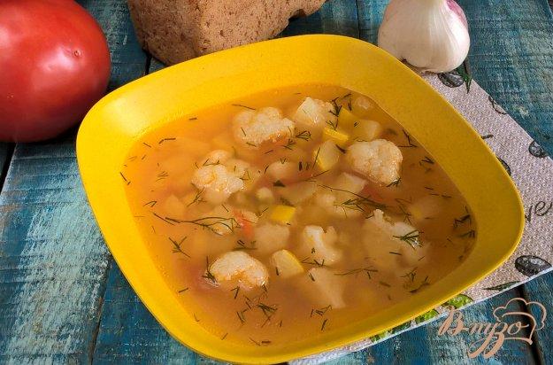 фото рецепта: Летний овощной суп с копченой свининой