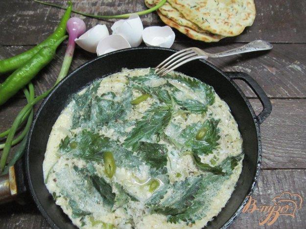 фото рецепта: Фриттата с картофелем и крапивой