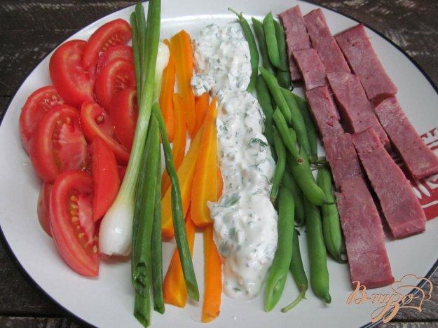 фото рецепта: Шеф-салат с вареными и свежими овощами