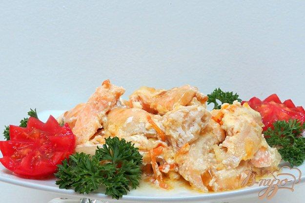 фото рецепта: Брюшки лосося в сливочном соусе