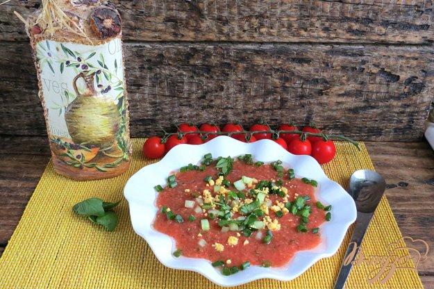 фото рецепта: Холодный томатный суп Гаспачо