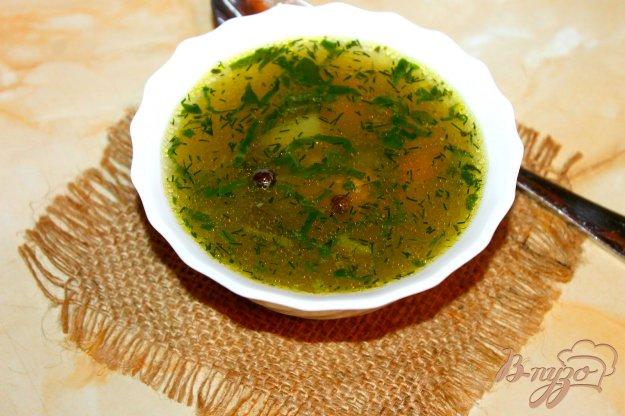 фото рецепта: Суп со шпинатом и мясными фрикадельками