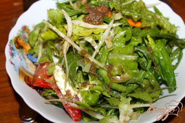 фото рецепта: Овощной салат с фетой и песто