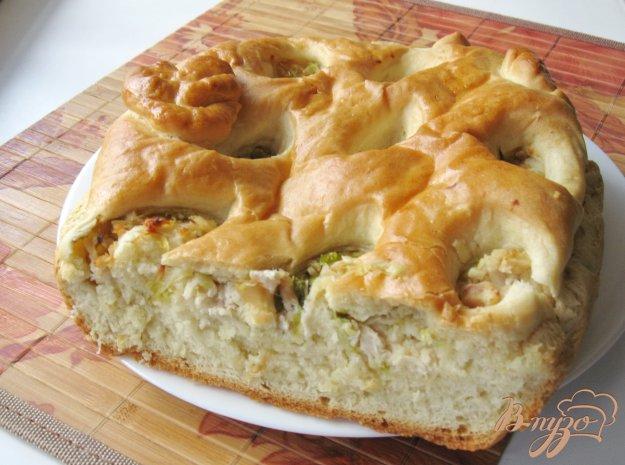 фото рецепта: Пирог с молодой капустой и курицей