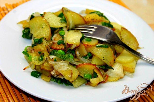 фото рецепта: Картофельный гарнир с молодым горохом