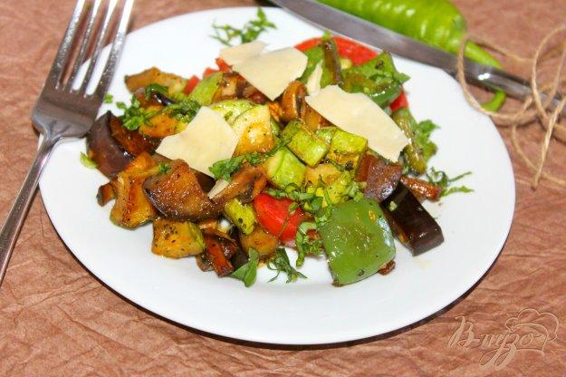 фото рецепта: Теплый овощной салат с пармезаном