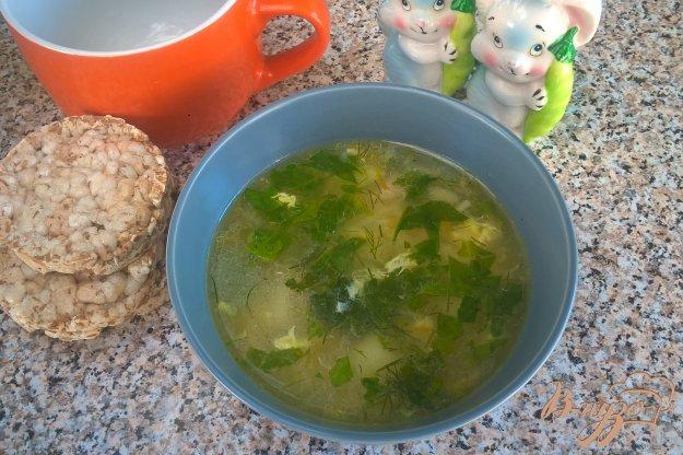 фото рецепта: Суп с ризони и шпинатом