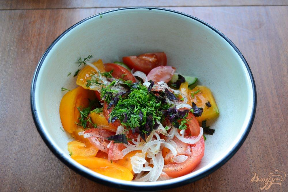 Помидоры с соевым соусом салат