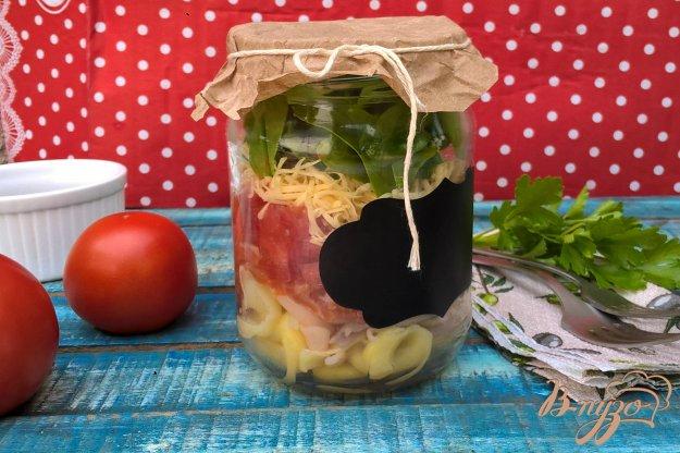 фото рецепта: Обед в банке с пастой и лососем