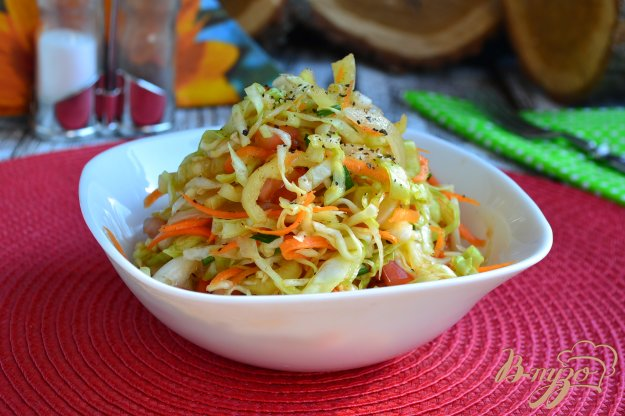 фото рецепта: Салат из капусты и овощей