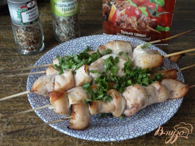 фото рецепта: Шашлык из куриной грудки в духовке