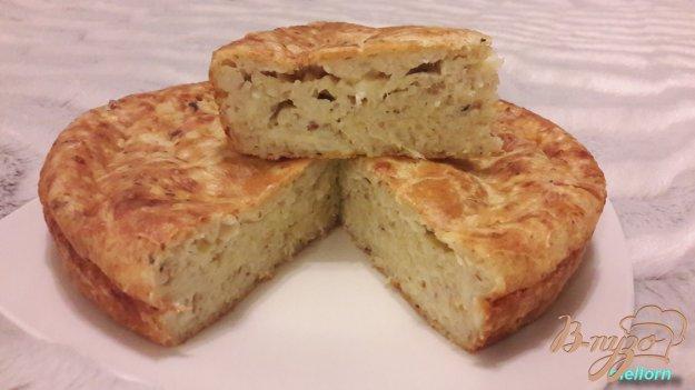 фото рецепта: Рисовый пирог с рыбой