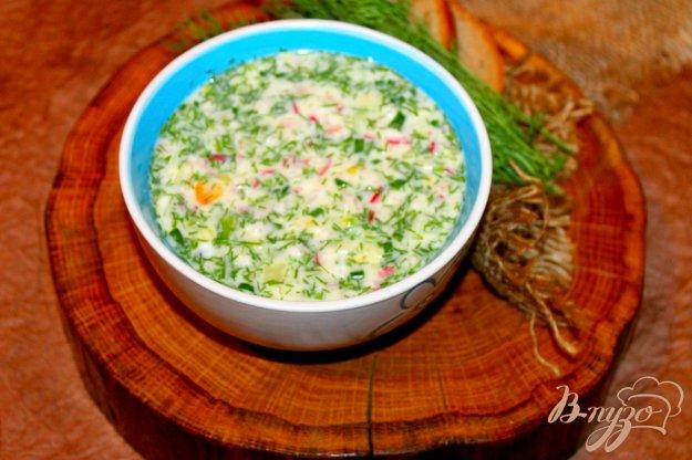 фото рецепта: Овощная окрошка на сметане