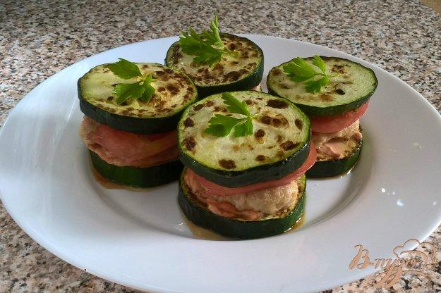 фото рецепта: Сандвичи без булки (с цуккини)