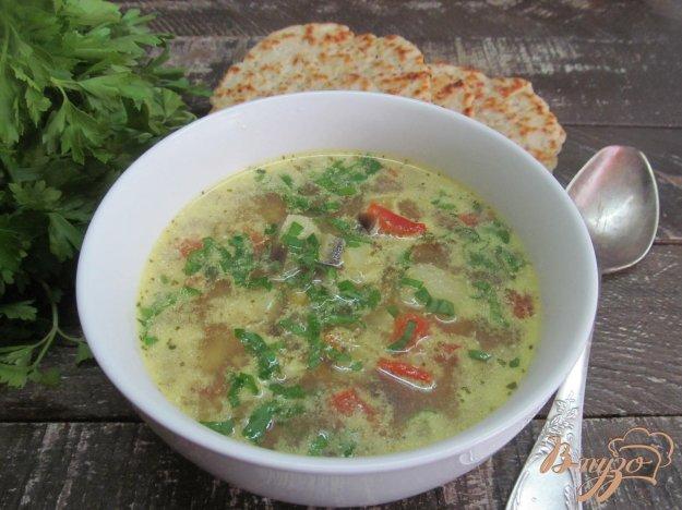 фото рецепта: Суп с баклажаном и рисом