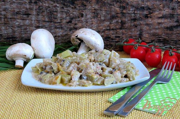 фото рецепта: Кабачки с грибами